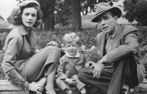 Humphrey Bogart and Lauren Bacall with son Steve.