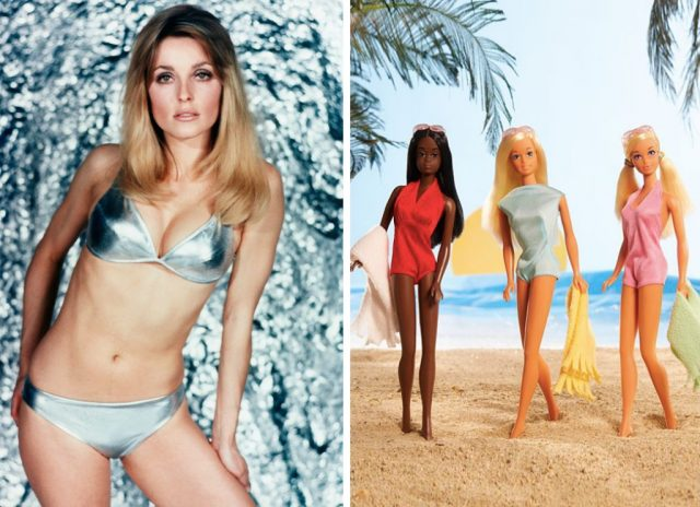 Sharon Tate and Malibu Barbie