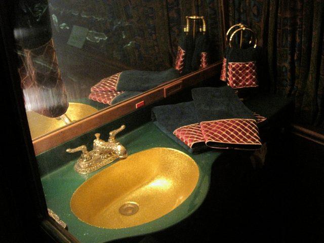 Bathroom inside Elvis Presley's private jet
