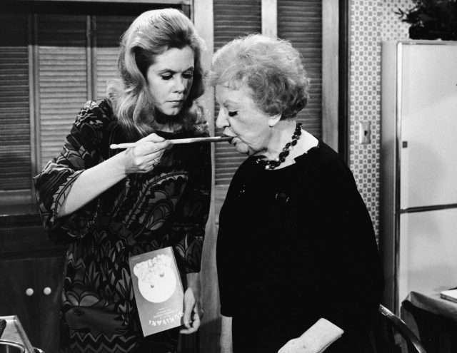 Elizabeth Montgomery and Marion Lorne