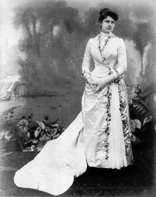 Frances Folsom Cleveland on her wedding day