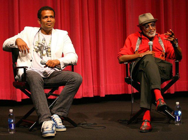 Actor/director Mario Van Peebles and Melvin Van Peebles attend the 2008 Los Angeles Film Festival. (Photo Credit: Maury Phillips/WireImage)