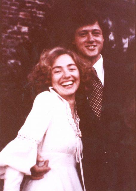 Hillary Clinton wedding day