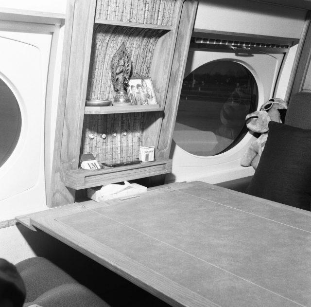 Interior of Frank Sinatra's jet