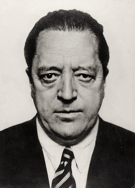 Ludwig Mies van der Rohe wearing a suit