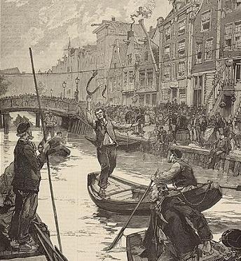 By M. de Haenen – prent uit het Franse historisch tijdschrift l 'Illustration van aug 1886. (Photo Credit: Public Domain, accessed via Wikimedia Commons)