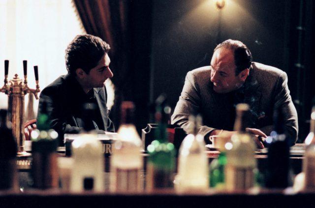 Michael Imperioli and James Gandolfini (Photo Credit: Chase Films/Brad Grey Television/HBO Entertainment & MovieStillsDB)