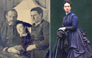 Parents sitting beside their deceased daughter + Alexandra, Princess of Wales