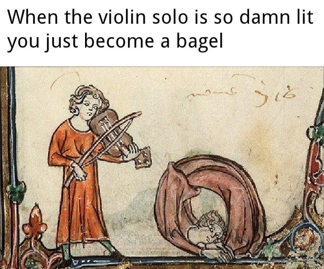 Medieval meme about violin