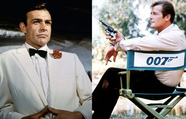 Sean Connery, left, and Roger Moore (Photo Credit: Bettmann / Contributor & MovieStillsDB)