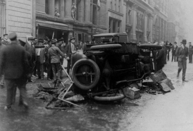 Wall Street explosion