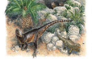Artist rendering of the Pendraig milnerae in its natural habitat