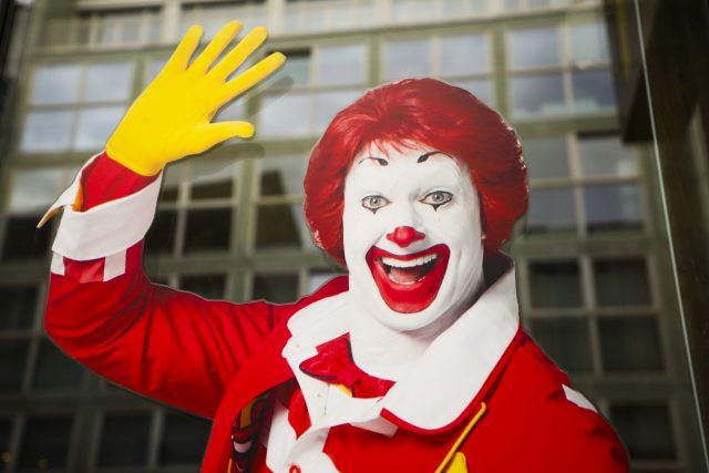 Ronald McDonald sticker in Berlin