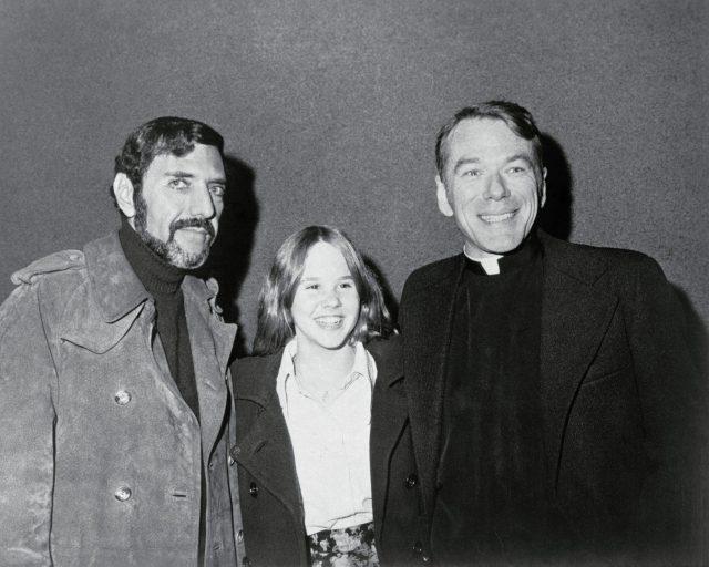 William Peter Blatty, Linda Blair, and William O'Malley