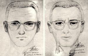 Two composite sketches of the Zodiac Killer